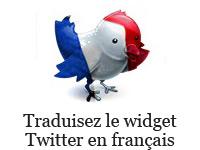 Traduire le widget Twitter en Français